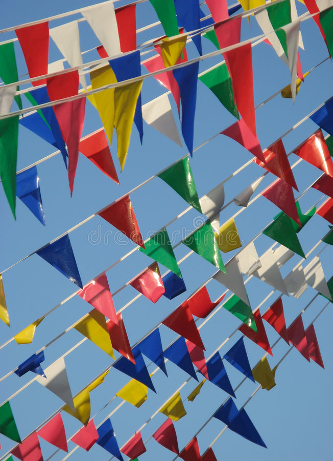 Bandeiras coloridas imagem de stock