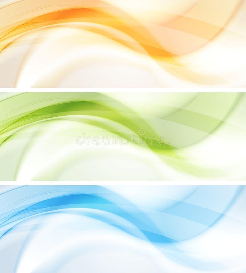 Bandeiras coloridas do vetor de ondas ilustração royalty free
