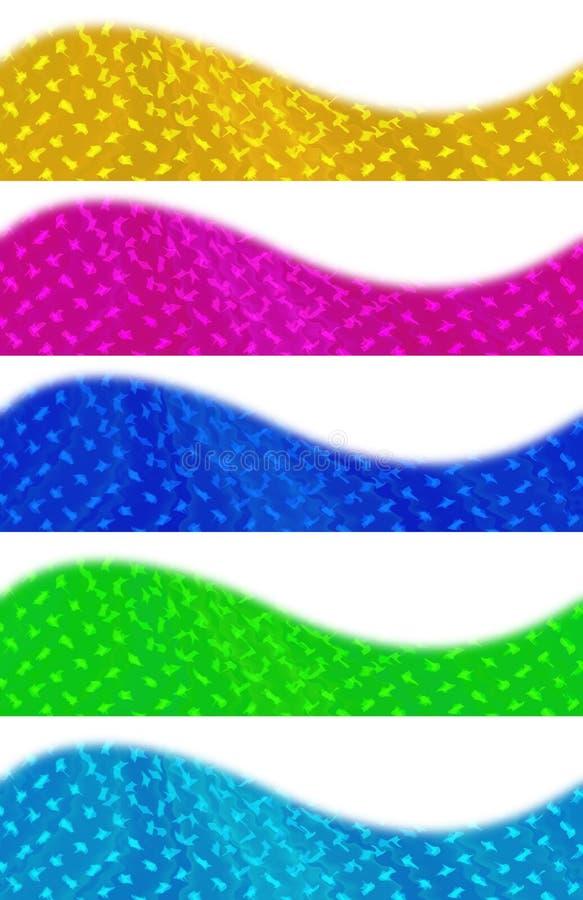 Bandeiras coloridas do Web ilustração do vetor