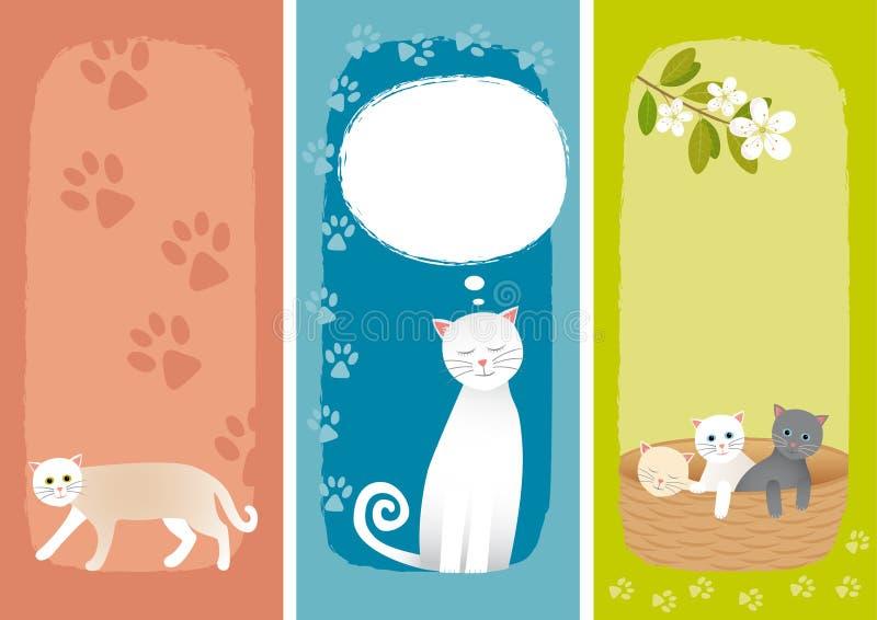 Bandeiras com gatos ilustração do vetor