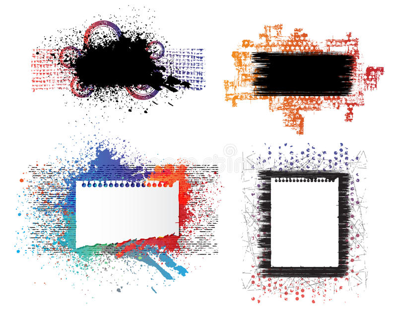Bandeiras creativas ilustração royalty free