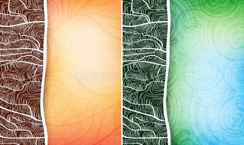 Bandeiras creativas do projeto ilustração do vetor