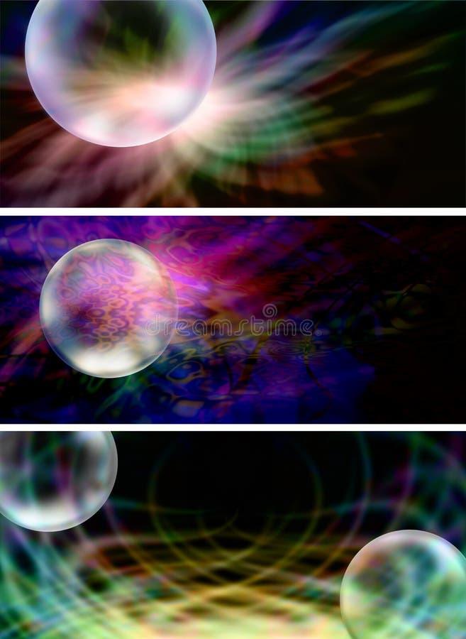 3 bandeiras criativas do Web site da bolha de x ilustração do vetor