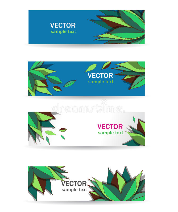 Bandeiras da agave ilustração stock