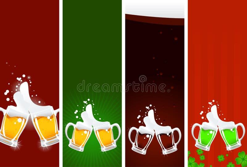 Bandeiras da cerveja ilustração do vetor