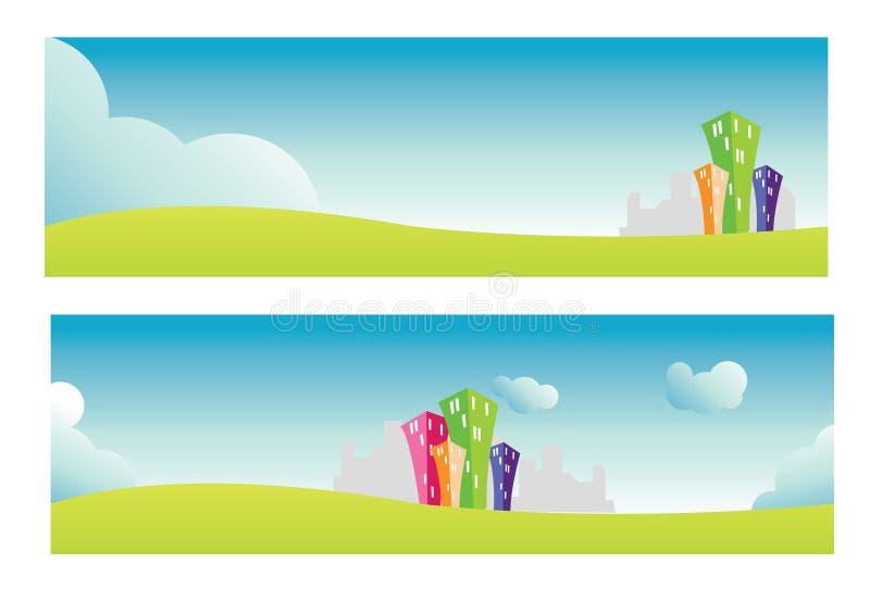 Download Bandeiras da cidade ilustração stock. Ilustração de flor - 12804171
