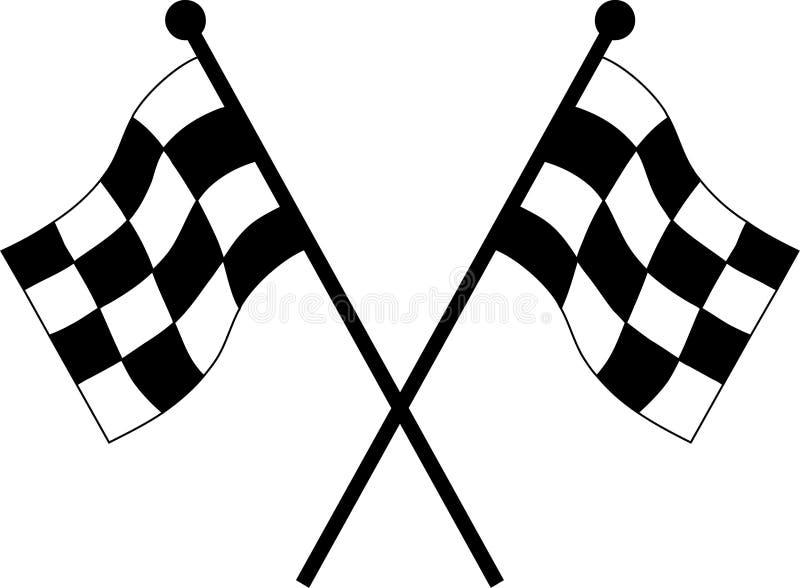 bandeiras da competência de carro ilustração royalty free