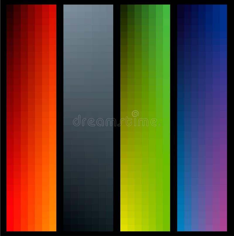 Bandeiras da cor do inclinação ilustração stock