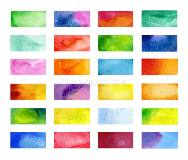 Bandeiras da cor tiradas com marcadores de japão Elementos à moda para o projeto Curso do marcador do vetor ilustração stock