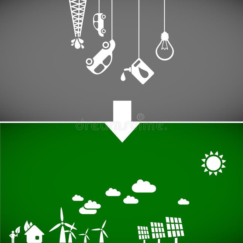 Download Bandeiras da ecologia ilustração do vetor. Imagem de ecology - 18929444