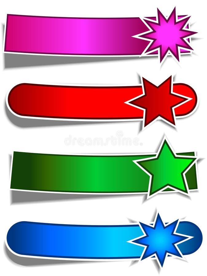 Bandeiras da estrela ilustração do vetor