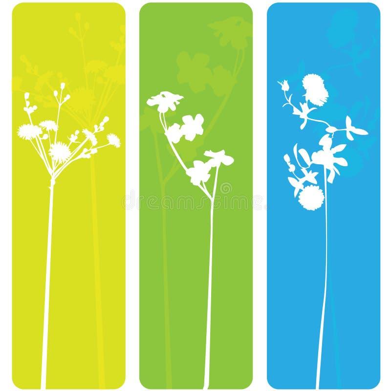Bandeiras da flor da mola imagem de stock royalty free
