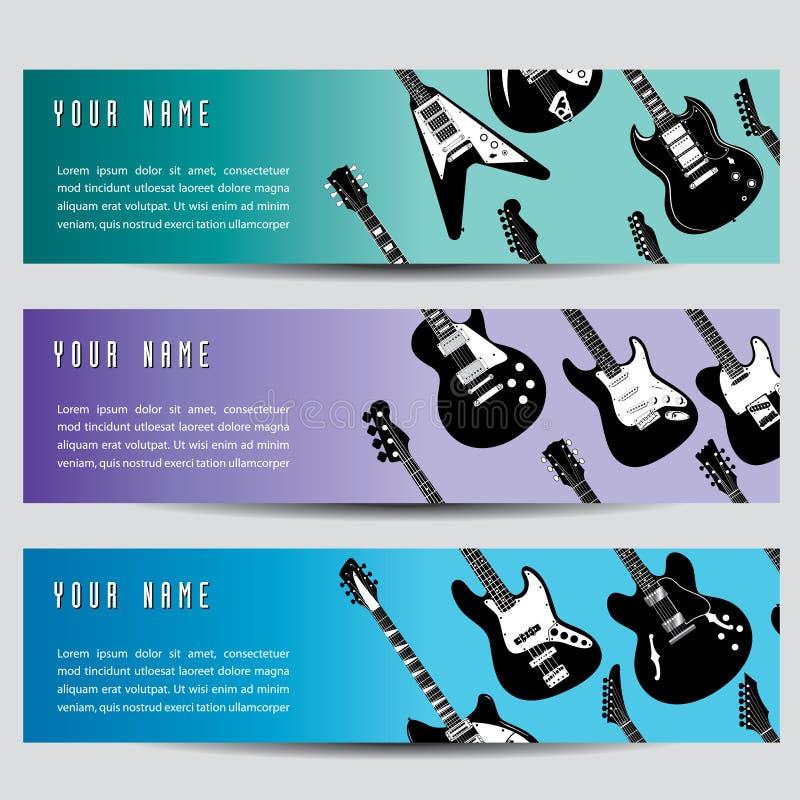 Bandeiras da guitarra   ilustração do vetor