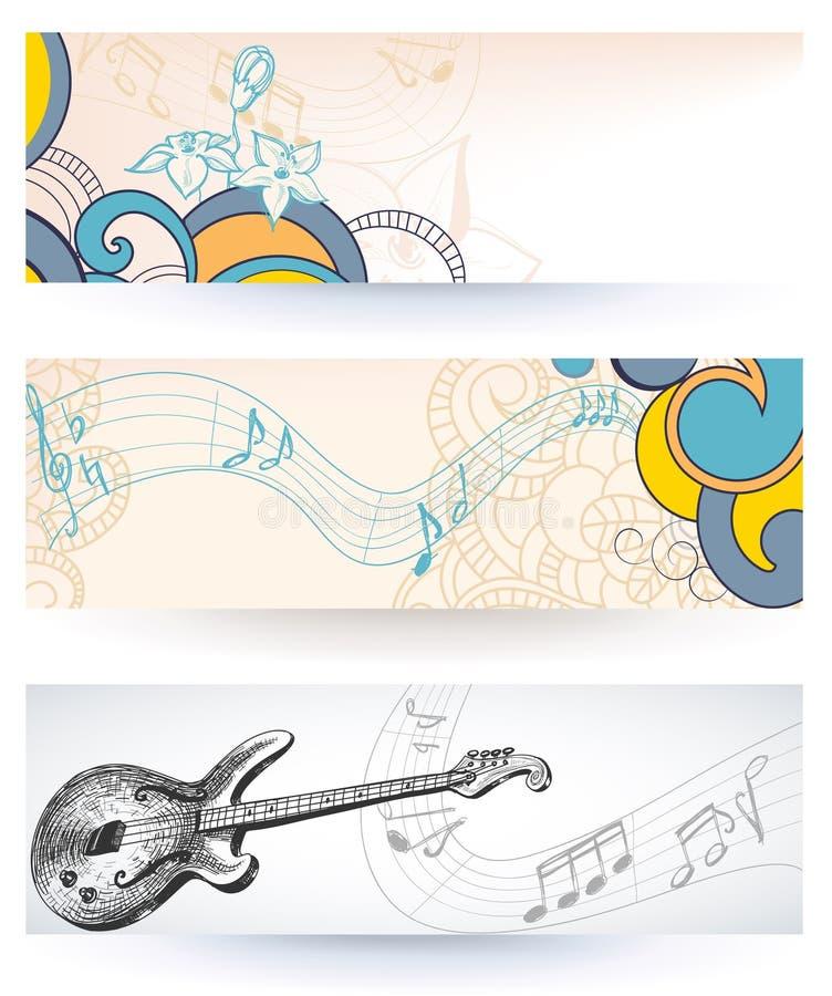 Bandeiras da música ilustração do vetor
