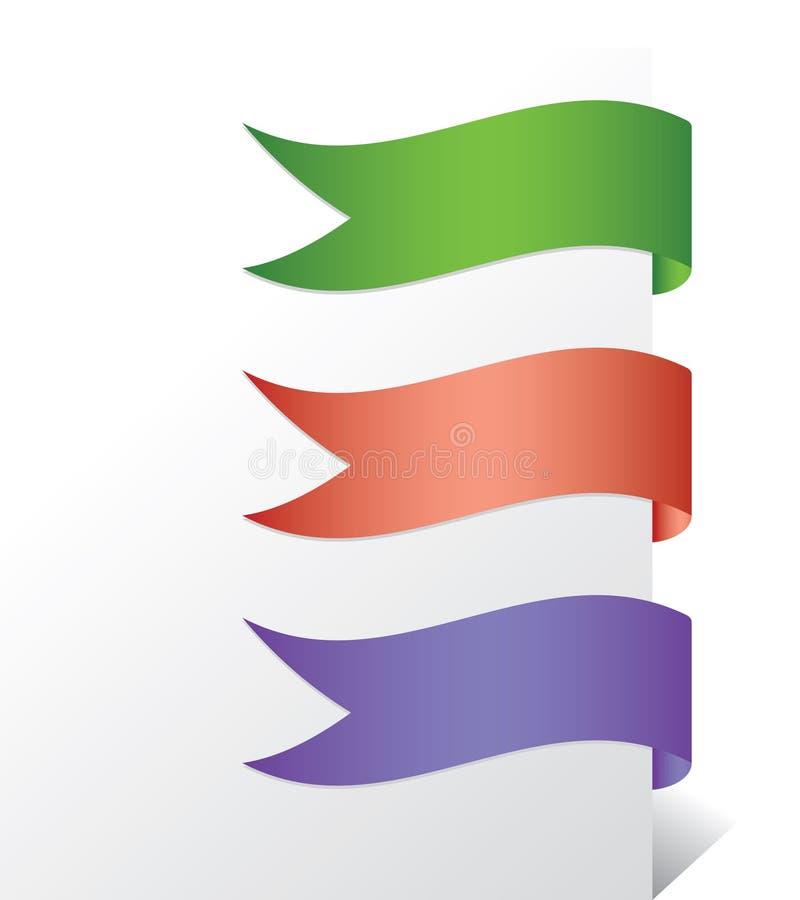 Bandeiras da onda ilustração royalty free