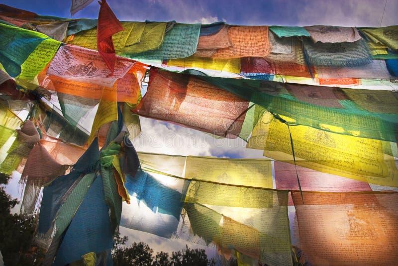 bandeiras da oração fotos de stock royalty free