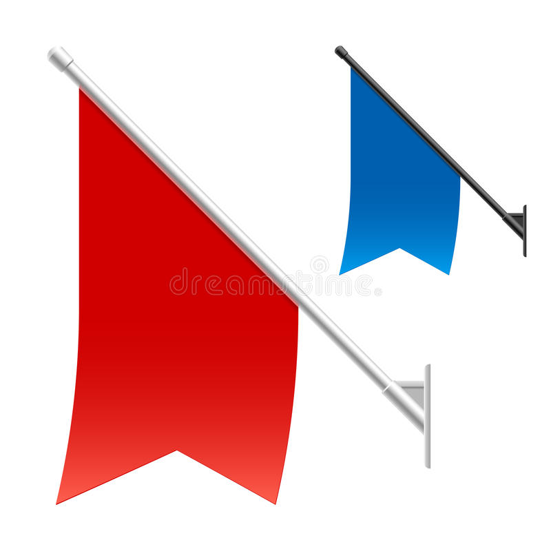 Bandeiras da parede ilustração royalty free