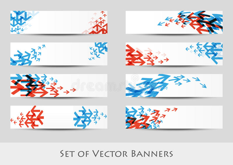 Bandeiras da seta ilustração do vetor
