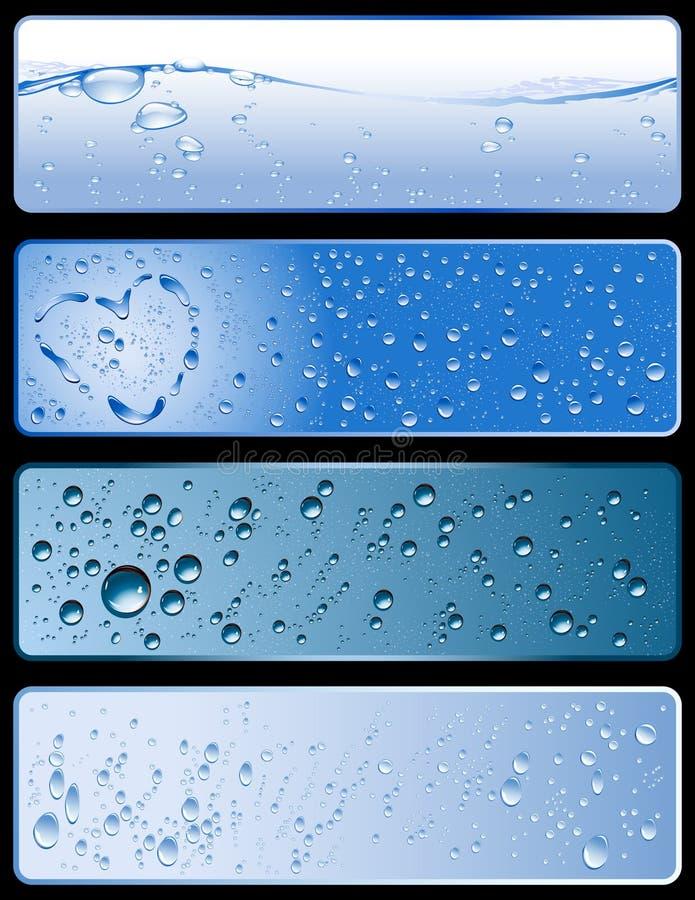 Bandeiras da textura da água imagem de stock
