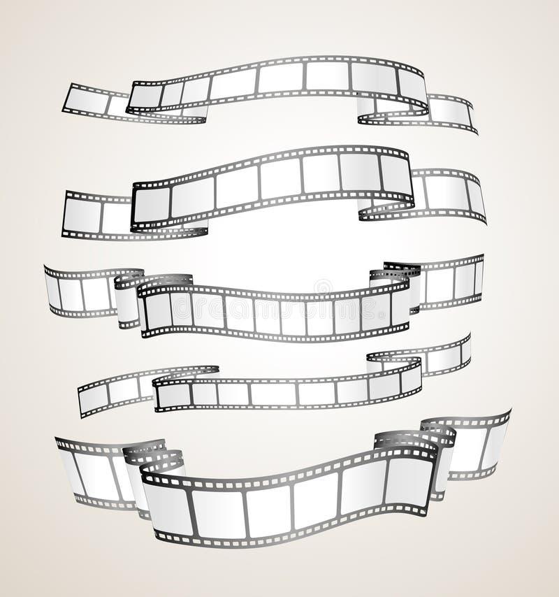 Bandeiras da tira da película ilustração do vetor