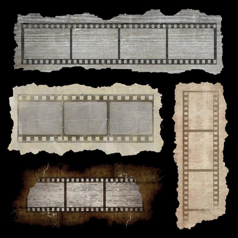 Bandeiras da tira do filme ilustração royalty free