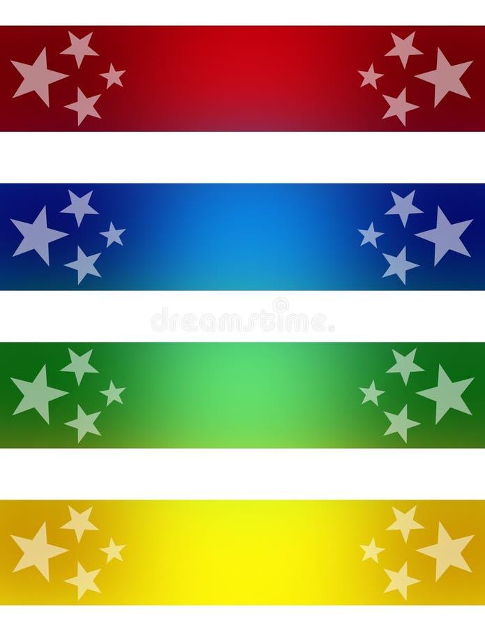 Bandeiras das estrelas ilustração royalty free