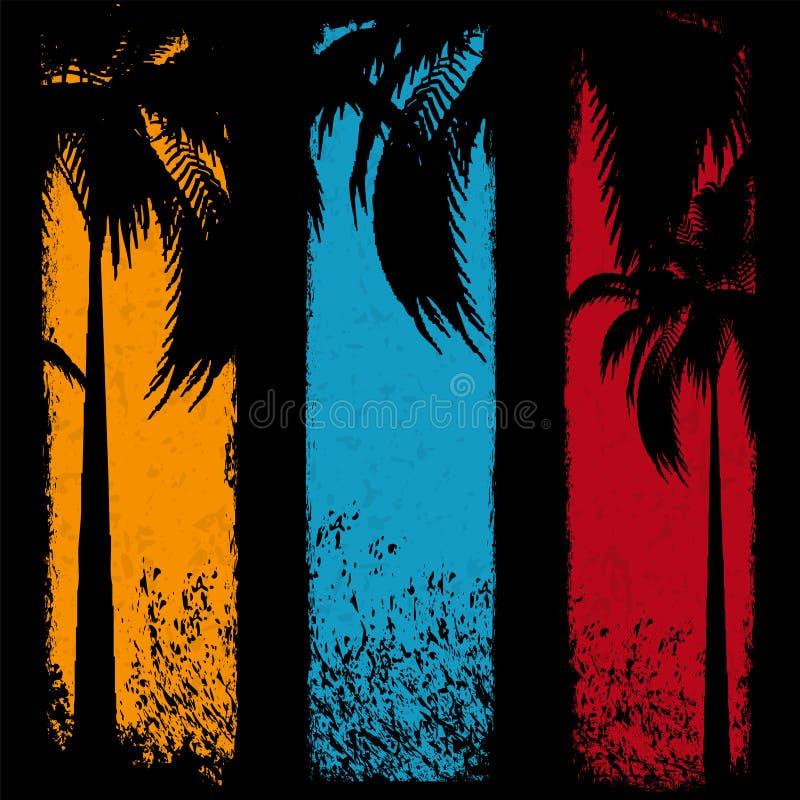 Bandeiras das férias de verão ilustração royalty free