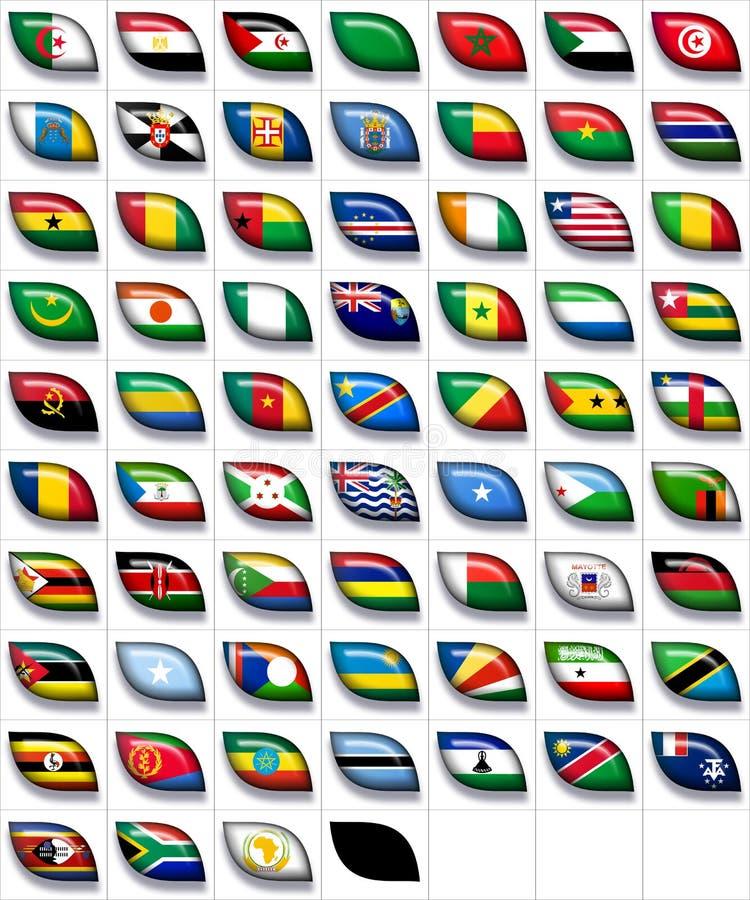 Bandeiras de África 2 ilustração royalty free