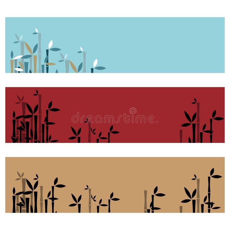 Bandeiras de bambu ilustração royalty free