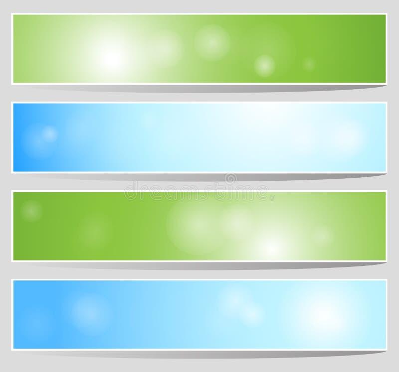 Bandeiras de Bokeh imagens de stock