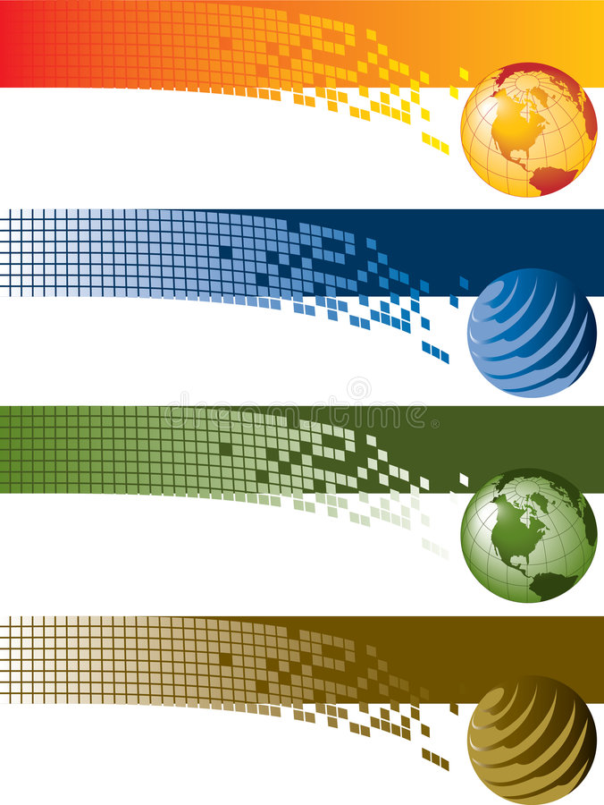 Bandeiras de Digitas ilustração stock