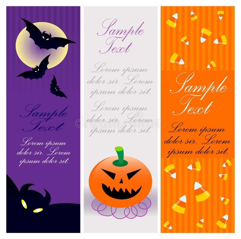 Bandeiras de Halloween ilustração do vetor