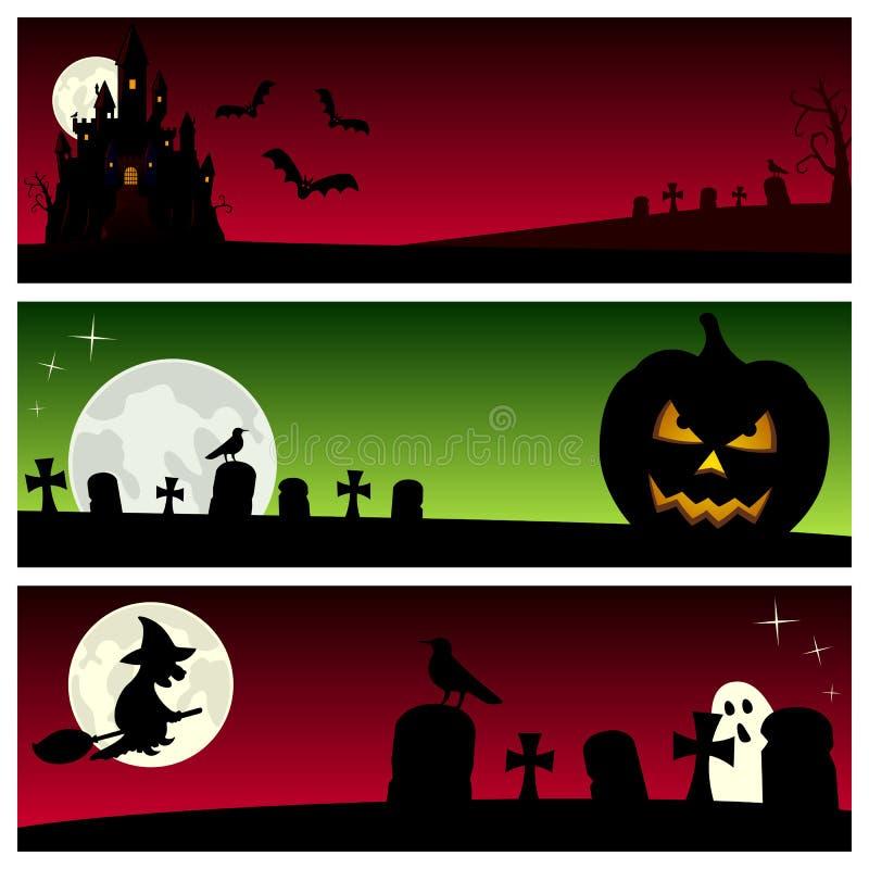Download Bandeiras de Halloween [5] ilustração do vetor. Ilustração de castelo - 26521017