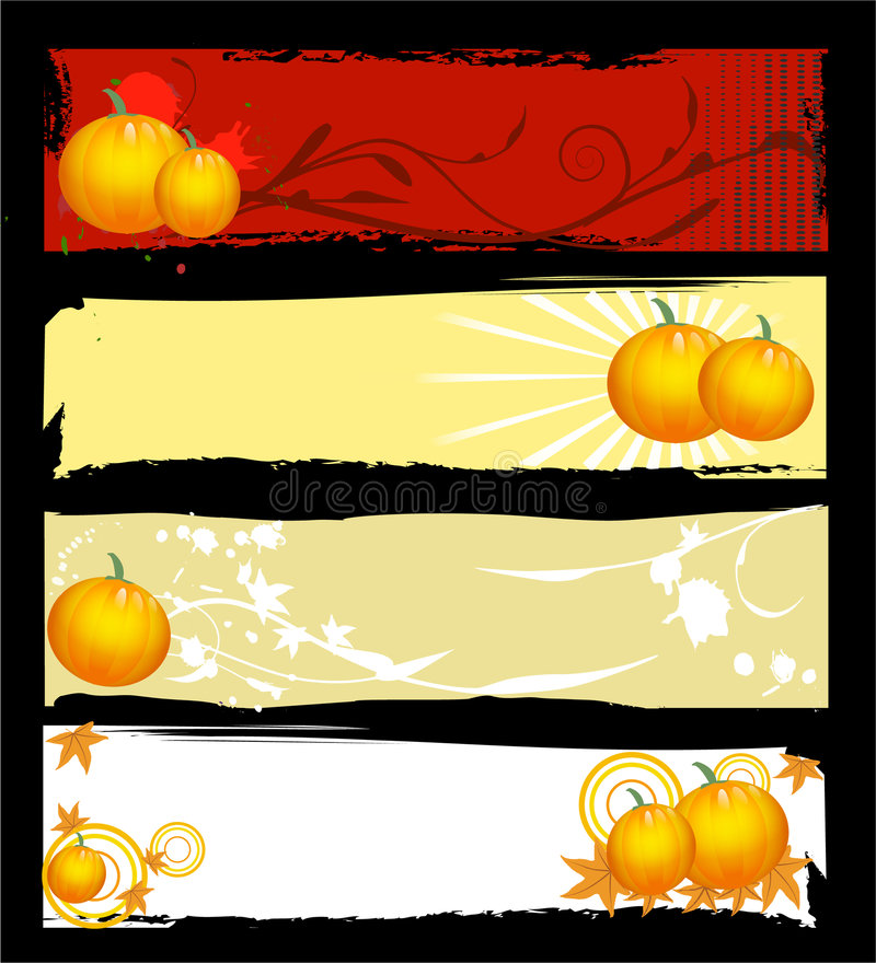 Bandeiras de Halloween ilustração royalty free