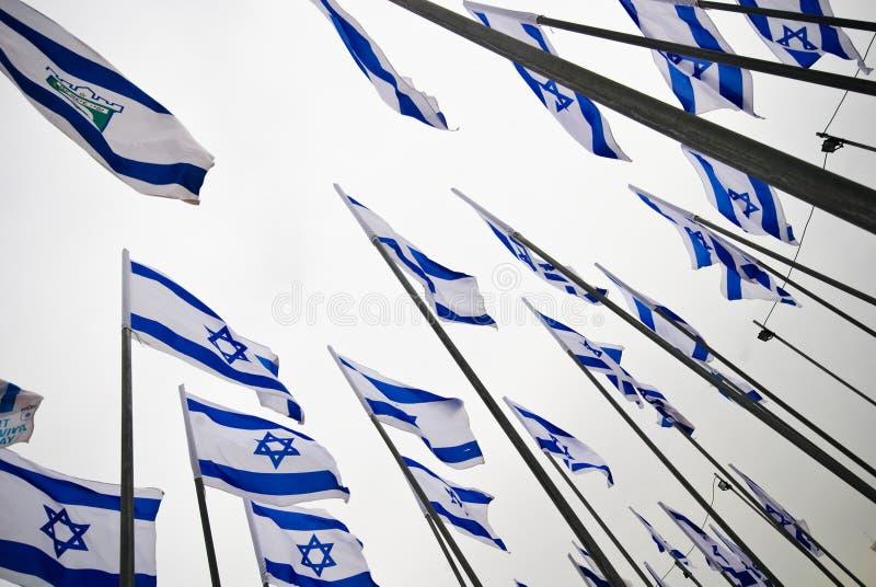 Bandeiras de Israel imagens de stock