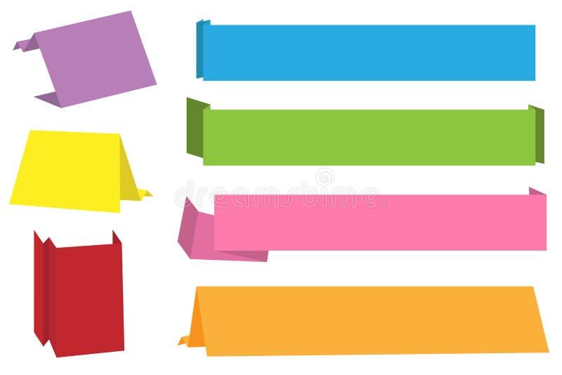 Bandeiras de Origami ilustração stock