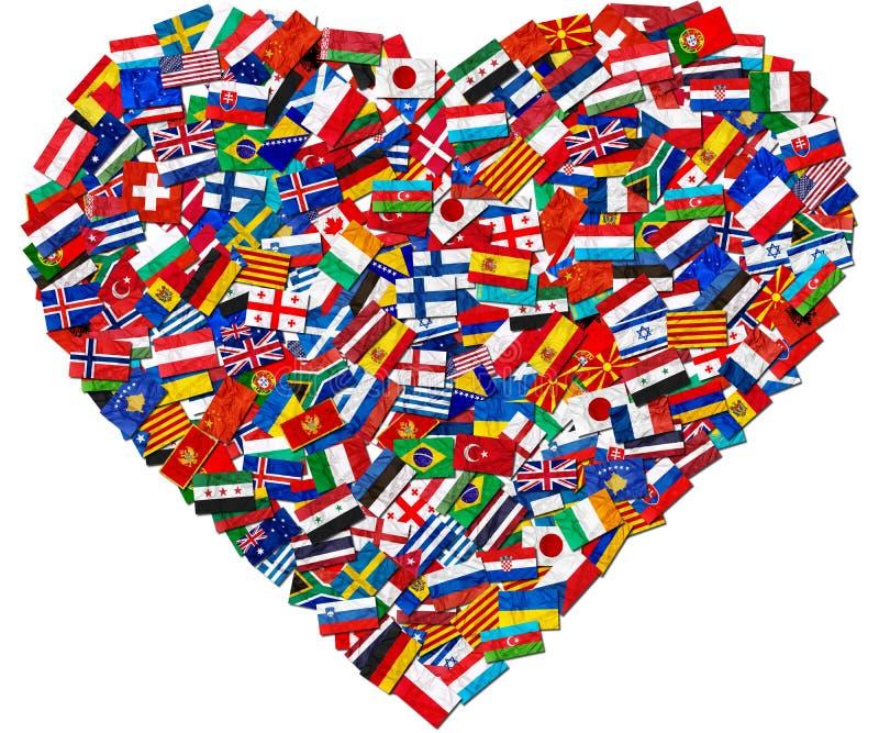 Bandeiras de países do mundo fotografia de stock royalty free