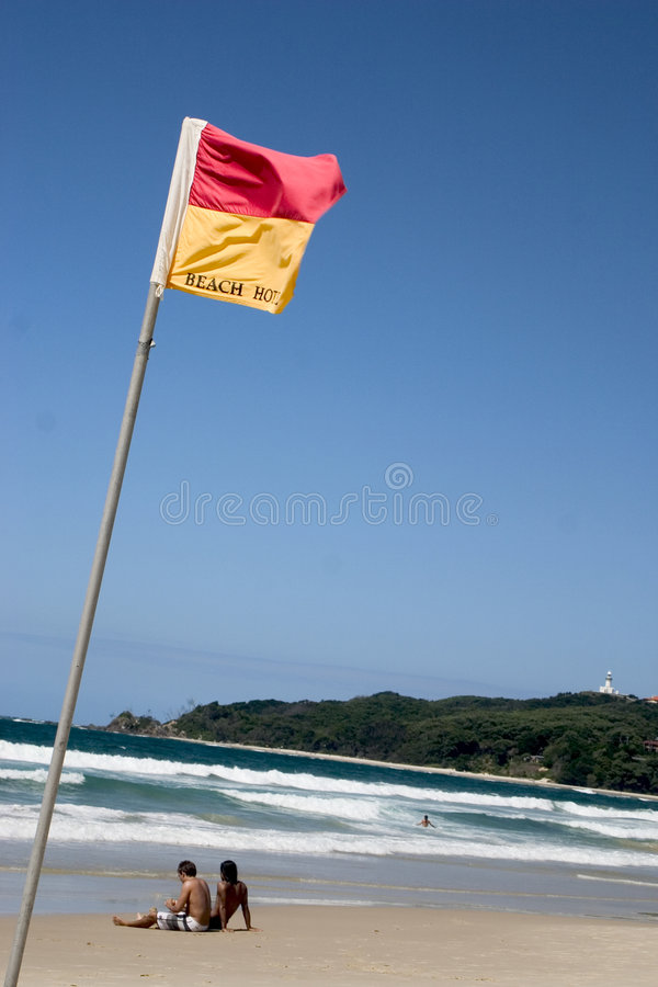 Bandeiras de praia fotos de stock royalty free