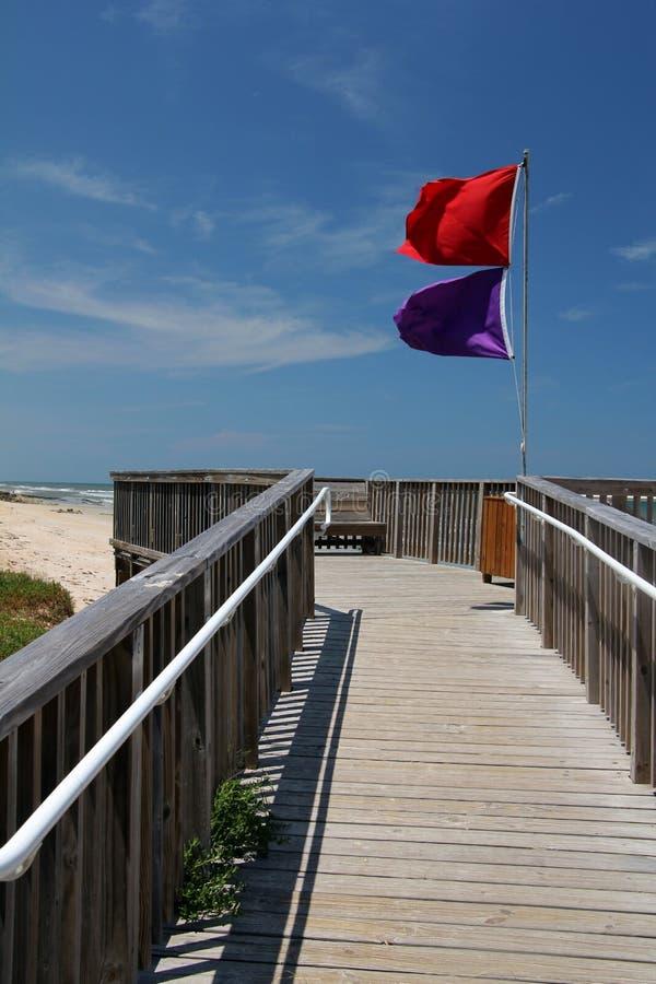 Bandeiras de praia imagem de stock