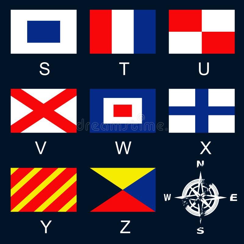Bandeiras de sinal marítimas SZ ilustração royalty free