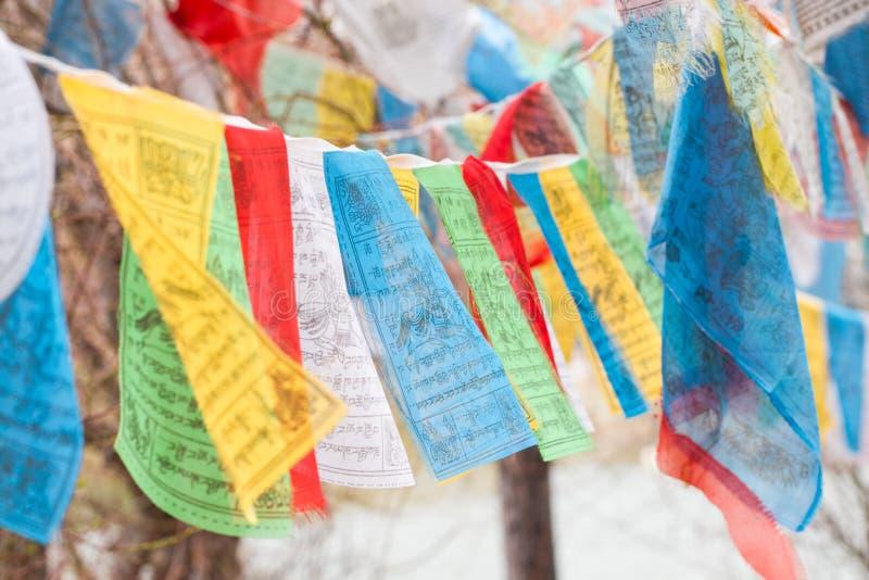 Bandeiras de Tibet fotos de stock royalty free