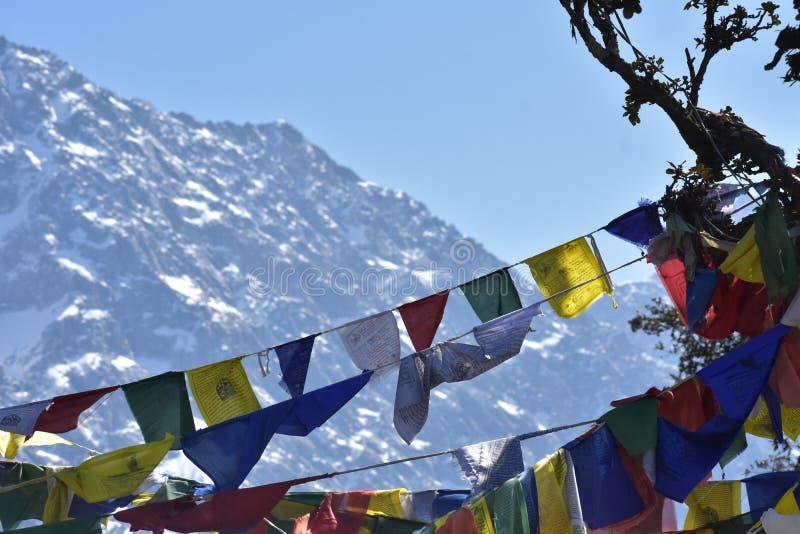 Bandeiras de Tibettan imagem de stock