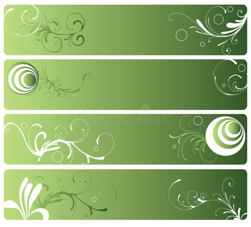 Bandeiras decorativas ilustração do vetor
