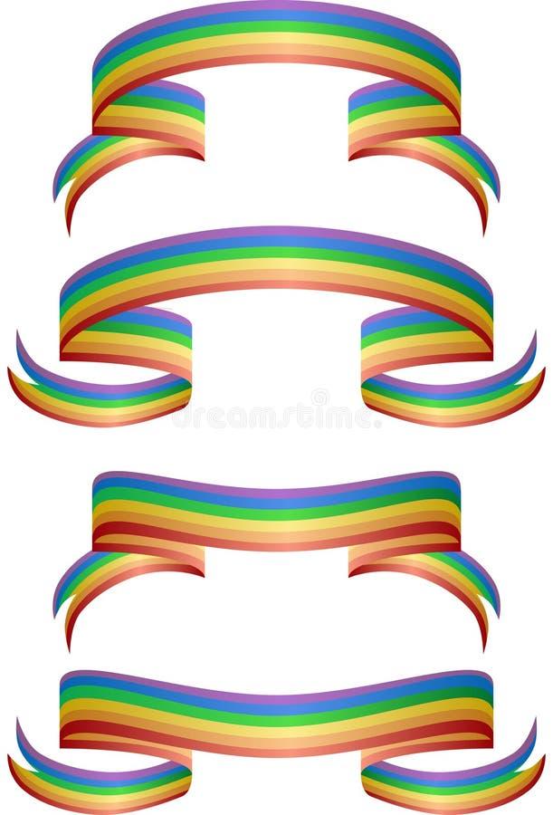 Bandeiras do arco-íris ilustração do vetor