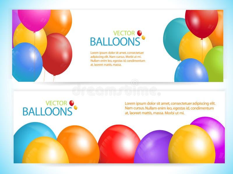 Bandeiras do balão ilustração royalty free