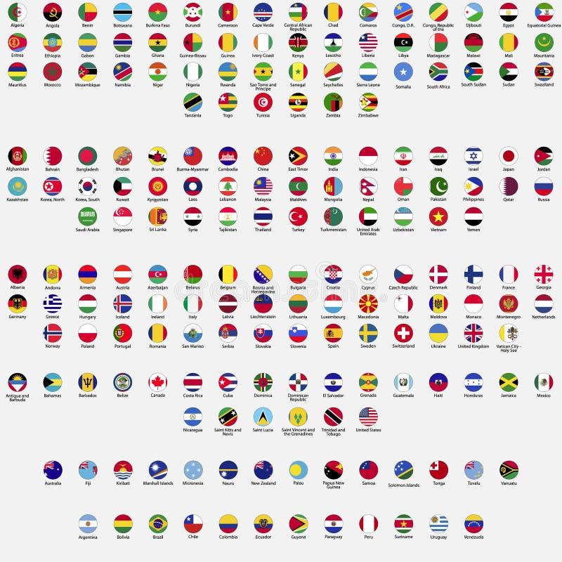 Bandeiras do círculo do mundo