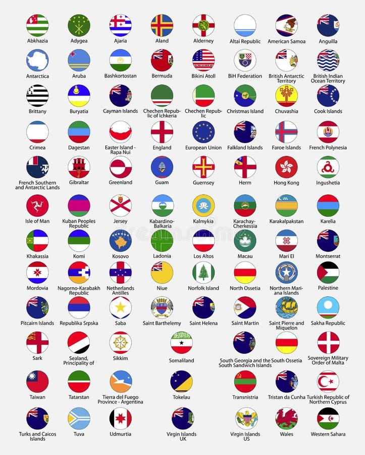 Bandeiras do círculo do mundo ilustração stock
