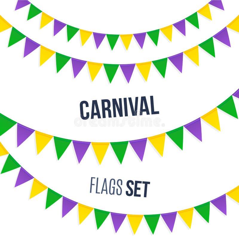 Download Bandeiras Do Carnaval Ajustadas Isoladas No Fundo Branco Ilustração do Vetor - Ilustração de partido, projeto: 65576804
