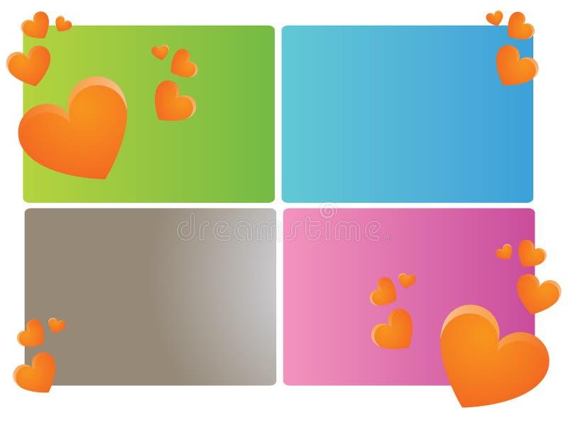 Download Bandeiras do coração ilustração stock. Ilustração de moderno - 12804166