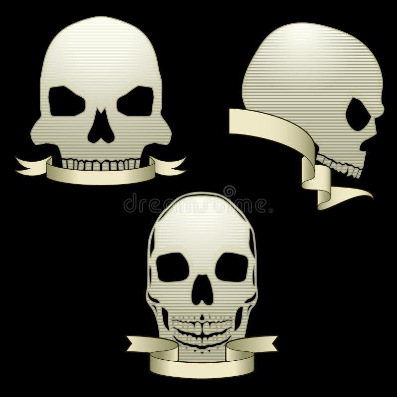 Bandeiras do crânio ilustração royalty free
